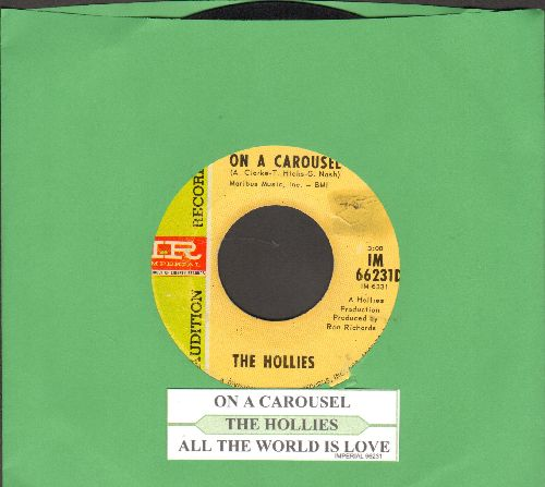 Hollies - On A Carousel/All The World Is Love (DJ advance pressing with juke box label) - VG7/ - 45 rpm Records