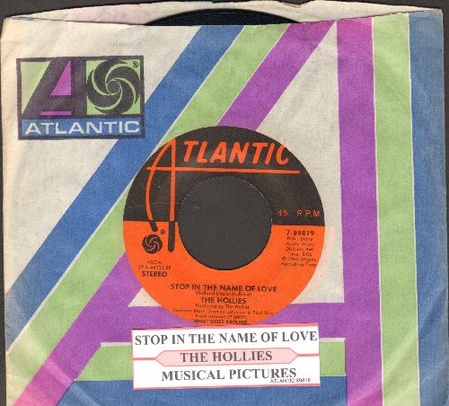 Hollies - Stop In The Name Of Love/Musical Pictures (with juke box label and company sleeve) - NM9/ - 45 rpm Records