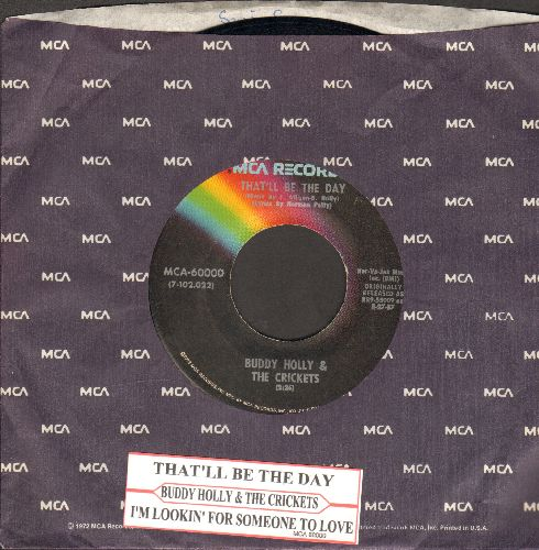 Holly, Buddy - That'll Be The Day/I'm Lookin' For Someone To Love (double-hit re-issue with juke box label and MCA company sleeve) - NM9/ - 45 rpm Records