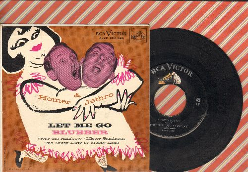 Homer & Jethro - Mister Sandman/The Nutty Lady Of Shady Lane/Over The Rainbow/Let Me Go Blubber (vinyl EP record with picture cover) - EX8/EX8 - 45 rpm Records