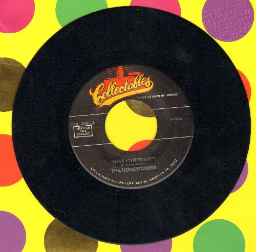 Honeycombs - Have I The Right?/Pushin' Too Hard (by The Seeds on flip-side) (re-issue) - NM9/ - 45 rpm Records