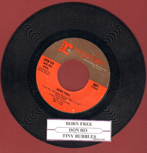 Ho, Don - Tiny Bubbles/Born Free (with juke box label) - EX8/ - 45 rpm Records