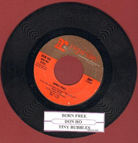 Ho, Don - Tiny Bubbles/Born Free (with juke box label) - EX8/ - 45 rpm Records