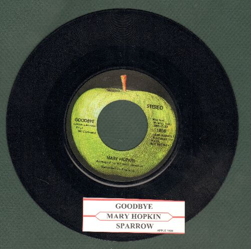 Hopkin, Mary - Goodbye/Sparrow (with juke box label) - EX8/ - 45 rpm Records