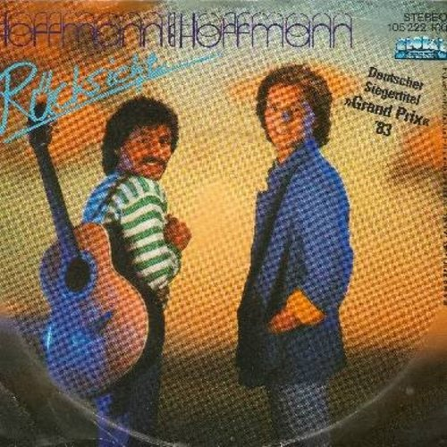 Hoffmann & Hoffmann - Rucksicht - German Entry in Grand Prix Eurovision 1983 (German Pressing with picture sleeve, sung in German) - NM9/EX8 - 45 rpm Records
