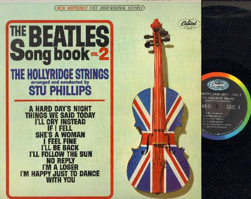 Hollyridge Strings - The Beatles Songbook Vol.2: A Hard day's Night, I'm Happy Just To Dance With You, I'll Follow The Sun 9vinyl STEREO LP record) - EX8/EX8 - LP Records