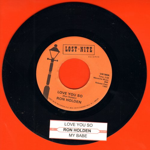 Holden, Ron - Love You So/My Babe (re-issue with juke box label) - NM9/ - 45 rpm Records