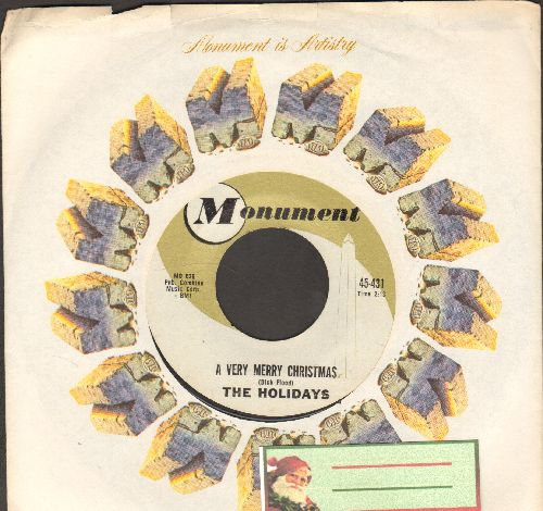 Holidays - A Very Merry Christmas/The Merry Christmas Song (with vintage Monument company sleeve) - NM9/ - 45 rpm Records