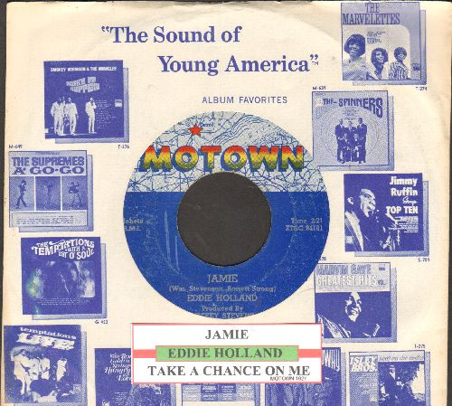 Holland, Eddie - Jamie/Take A Chance On Me (with RARE vintage Motown company sleeve)  - VG7/ - 45 rpm Records