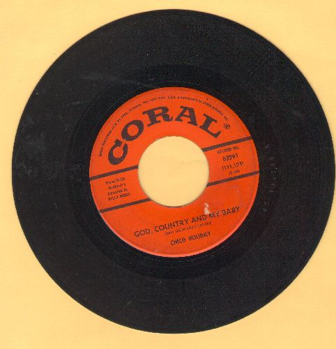 Holiday, Chico - God, Country And My Baby/Fools  - VG7/ - 45 rpm Records