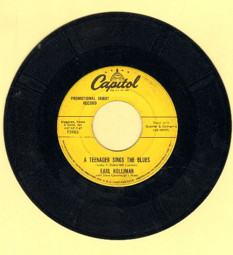 Holliman, Earl - A Teenager Sings The Blues/Don't Go Around Much Anymore (DJ advance pressing) - VG7/ - 45 rpm Records