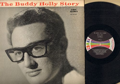Holly, Buddy - The Buddy Holly Story: Peggy Sue, Maybe Baby, Everyday, That'll Be The Day, Heartbeat, Oh Boy (Vinyl MONO LP record, multicolor label second pressing) - NM9/VG6 - LP Records