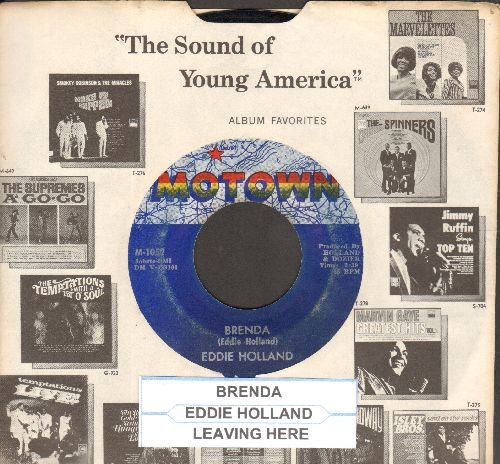 Holland, Eddie - Brenda/Leaving Here (with vintage Motown company sleeve and juke box label) - EX8/ - 45 rpm Records