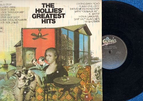 Hollies - The Hollies' Greatest Hits: Bus Stop, Carrie-Ann, On A Carousel, He Ain't Heavy - He's My Brother (Vinyl STEREO LP record, blue label pressing) - NM9/EX8 - LP Records