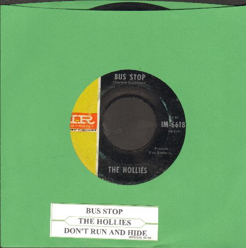 Hollies - Bus Stop/Don't Run And Hide (with juke box label) - VG7/ - 45 rpm Records