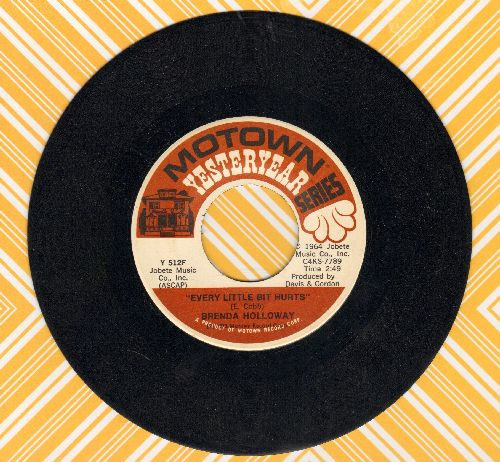 Holloway, Brenda - Every Little Bit Hurts/Just Look What You've Done (double-hit re-issue) - NM9/ - 45 rpm Records