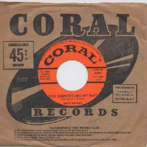 Holiday, Chico - God, Country And My Baby/Fools (with original company sleeve) - EX8/ - 45 rpm Records