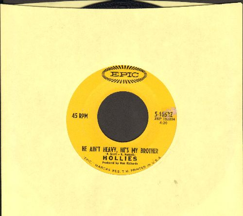 Hollies - He Ain't Heavy, He's My Brother/Cos You Like To Love Me - VG7/ - 45 rpm Records