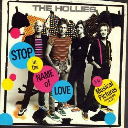 Hollies - Stop In The Name Of Love/Musical Pictures (with picture sleeve) - NM9/EX8 - 45 rpm Records