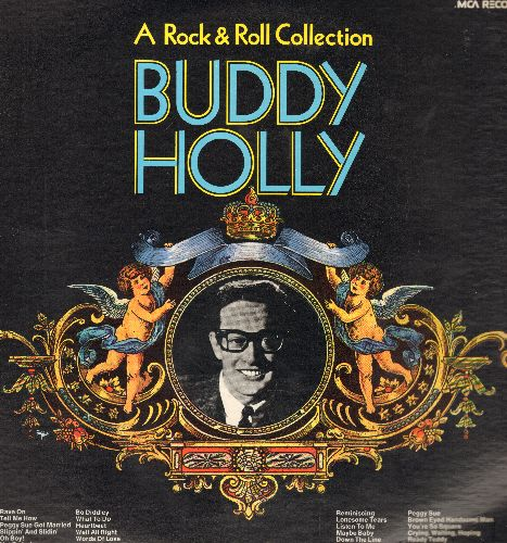 Holly, Buddy - Buddy Holly - A Rock & Roll Collection: Peggy Sue, Bo Diddley, Rave On, Heartbeat, Maybe Baby, That'll Be The Day (2 vinyl LP record set, re-issue of vintage recordings) - M10/NM9 - LP Records
