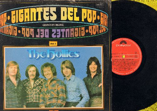 Hollies - Gigantes Del Pop Vol. 8 - The Hollies: Jennifer Eccles, On A Carousel, Carrie Anne, He Ain't Heavy - He's My Brothers (Vinyl STEREO LP record, Spanish Pressing) - NM9/VG7 - LP Records