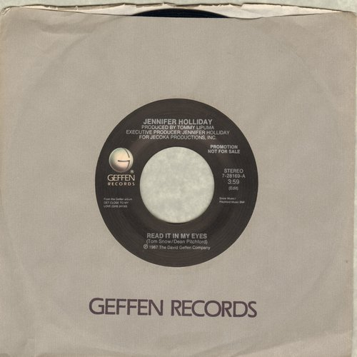 Holliday, Jennifer - Read It In My Eyes (double-A-sided DJ advance pressing) - M10/ - 45 rpm Records