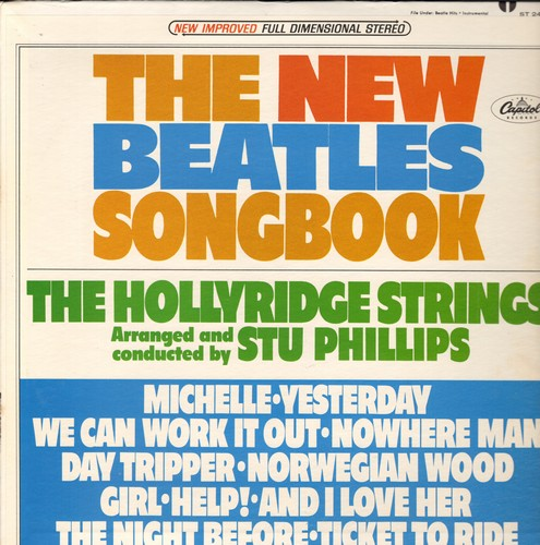 Hollyridge Strings - The New Beatles Songbook: Michelle, Yesterday, We Can Work It Out, Nowhere Man, And I Love Her, Ticket To Ride (Vinyl STEREO LP record, NICE condition!) - NM9/EX8 - LP Records