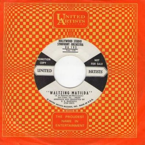 Hollywood Studio Symphony Orchestra - Waltzing Matilda/Marching Mathilda (DJ advance copy with vintage United Artists company sleeve) - NM9/ - 45 rpm Records
