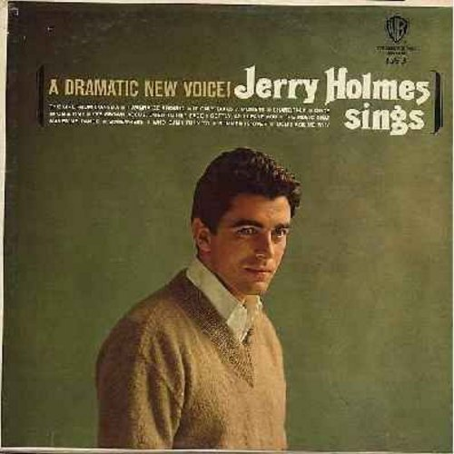 Holmes, Jerry - A Dramatic New Voice!: I've Grown Accustomed To Her Face, The Girl From Ipanema, Somewhere, Softly As I Leave You, Unce Upon A Time (Vinyl MONO LP record) - NM9/NM9 - LP Records