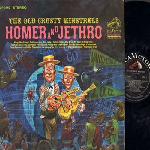 Homer & Jethro - The Old Crusty Minstrels: Camp Runamuck, The Chase Is On, King Of The Camp, Egg Eatin' Dog (Vinyl STEREO LP record) - NM9/EX8 - LP Records