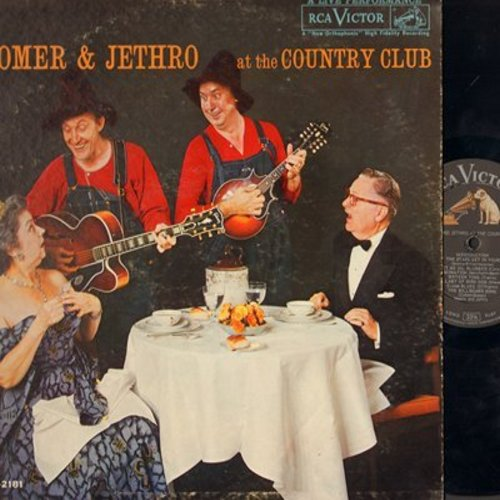 Homer & Jethro - At The Country Club: Fascination, Sixteen Tons, Hart Brake Motel, Lullaby Of Bird Dog, Let Me Go Blubber (Vinyl MONO LP record) - EX8/VG7 - LP Records