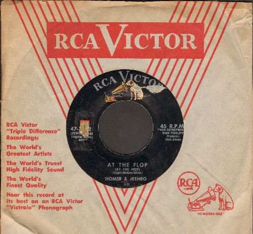 Homer & Jethro - At The Flop/My Special Angel (with vintage RCA company sleeve) - EX8/ - 45 rpm Records
