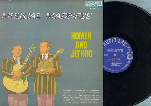 Homer & Jethro - Musical Madness: Bill Bailey Won't You Please Come Home, Cielito Lindo, Boll Weevil, Groundhog (Vinyl MONO LP record) - NM9/VG7 - LP Records