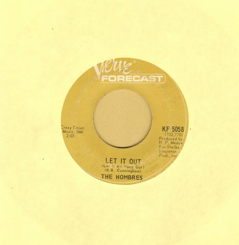 Hombres - Let It Out (Let It All Hang Out)/Go Girl, Go  - VG7/ - 45 rpm Records