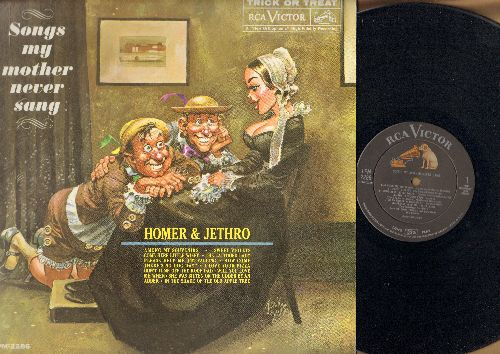 Homer & Jethro - Songs My Mother Never Sang: Among My Souvenirs, I Love Your Pizza, Please Help Me I'm Falling, Sweet Violet (Vinyl STEREO LP record) - NM9/EX8 - LP Records