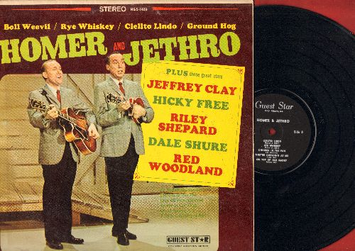Homer & Jethro - Homer & Jethro: Boll Weevil, Ground Hog, Rye Whiskey (Vinyl STEREO LP record) - NM9/VG7 - LP Records