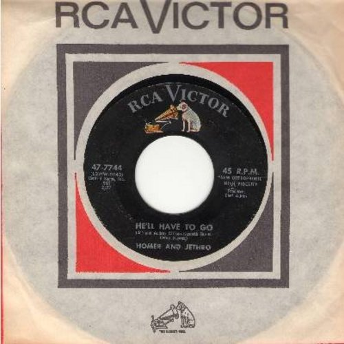 Homer & Jethro - He'll Have To Go/Sink The Bismarck (with RCA company sleeve) - EX8/ - 45 rpm Records