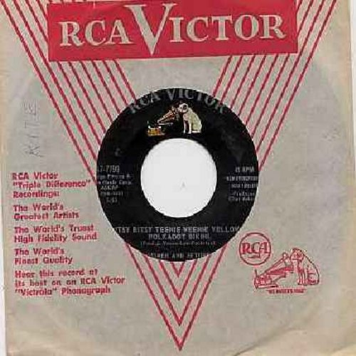 Homer & Jethro - Itsy Bitsy Teenie Weenie Yellow Polkadot Bikini/Please Help Me, I'm Falling (with RCA company sleeve) - VG7/ - 45 rpm Records