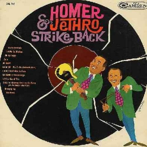 Homer & Jethro - Homer & Jethro Strike Back: Mister Sandman, Oh My Pappy, The Battle of Kookamonga, Unhappy Day, Too Young (Vinyl MONO LP record) - VG7/VG6 - LP Records