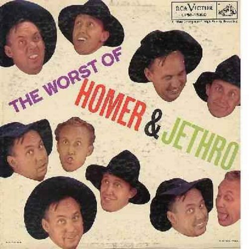Homer & Jethro - The Worst Of: Hey There, Jam-Bowl-Liar, Hart Btake Hotel, That Hound Dog In The Window, Love & Marriage (Vinyl MONO LP record) - NM9/VG7 - LP Records