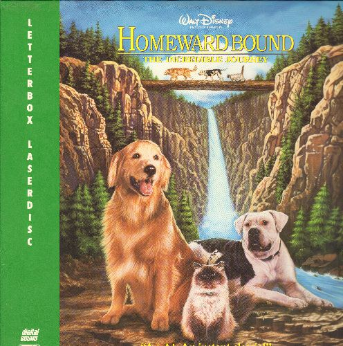 Homeward Bound - Dinsey's Homeward Bound LASER DISC Animated Classic - NM9/NM9 - Laser Discs