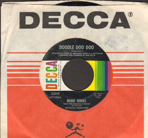 Hines, Mimi - Doodle Doo Doo/One More Time (with vintage Decca company sleeve) - NM9/ - 45 rpm Records