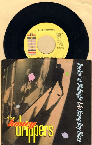 Honey Drippers - Young Boy Blues/Rockin' At Midnight (with picture sleeve) - NM9/EX8 - 45 rpm Records