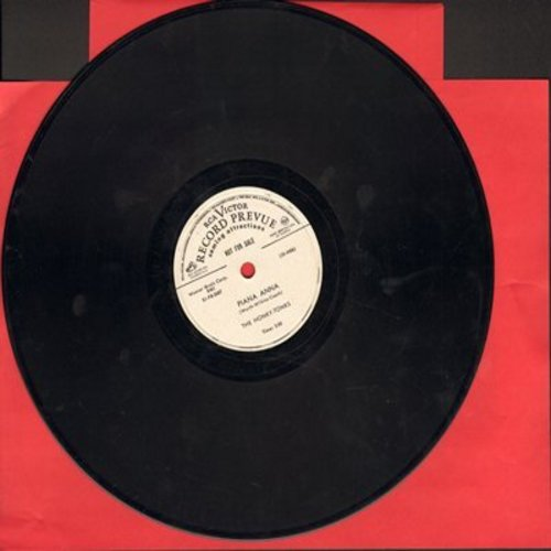 Honky-Tonks - Piana Anna/The Boom-Zig Song (10 inch 78rpm record, early vinyl) (sol) - EX8/ - 78 rpm
