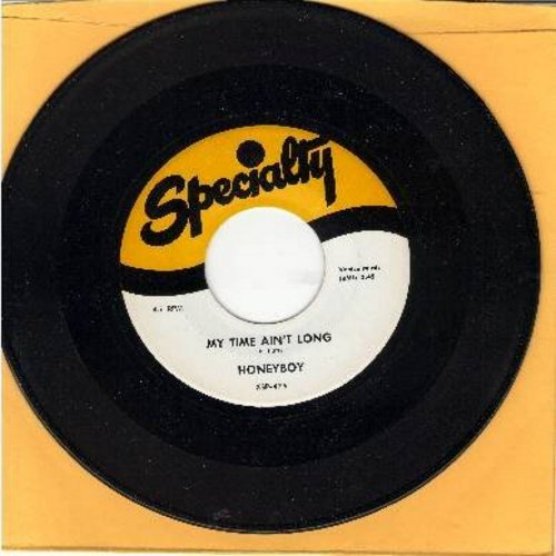 Honeyboy - My Time Ain't Long/Bloodstains On The Wall (authentic-looking re-issue of vintage Doo-Wop recordings) - NM9/ - 45 rpm Records