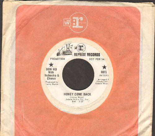 Ho, Don - Honey Come Back/Sands Of Waikiki (DJ advance pressing with Reprise company sleeve) - NM9/ - 45 rpm Records