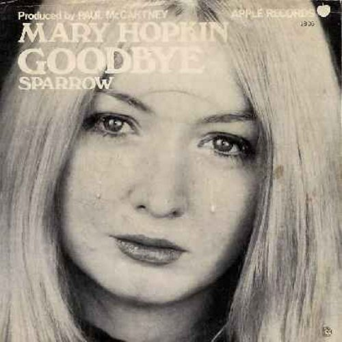Hopkin, Mary - Goodbye/Sparrow (with picture sleeve) - EX8/VG7 - 45 rpm Records