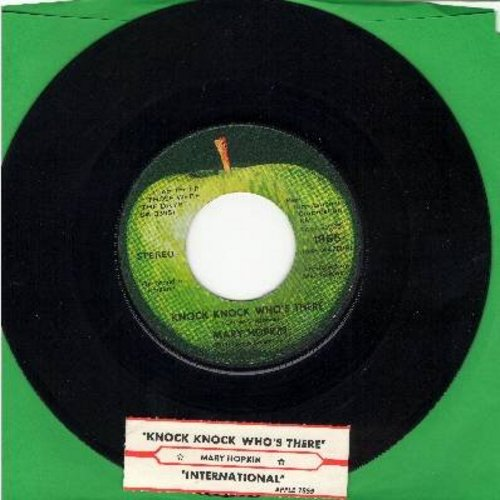 Hopkin, Mary - Knock Knock Who's There/International (with juke box label) - NM9/ - 45 rpm Records