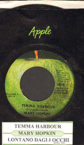 Hopkin, Mary - Temma Harbour/Lontano Dagli Occi (with juke box label and Apple company sleeve) - NM9/ - 45 rpm Records