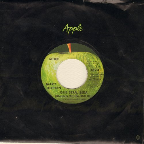 Hopkin, Mary - Que Sera, Sera (Whatever Will Be)/Fields Of St. Etienne (with Apple company sleeve) - NM9/ - 45 rpm Records